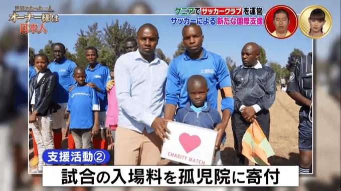 孤児院への寄付
