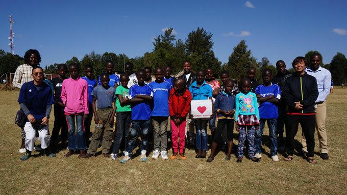 ケニアの孤児院の子どもたち。