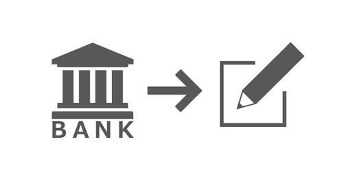 銀行にてお申込ください。